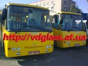 Автостекло триплекс,  лобовое стекло для автобусов Богдан