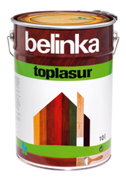 Belinka Toplasur – толстослойный лазурный лак для дерева.