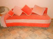 Раскладной диван с 4 подушками Мальвина