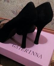 идеальные замшевые туфли высокий устойчивый каблук