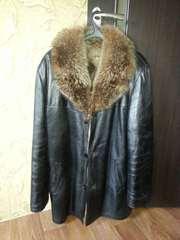 Кожаная куртка на волчьем меху