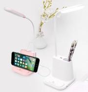 Умная настольная светодиодная лампа 3в1 со встроенным аккумулятором и