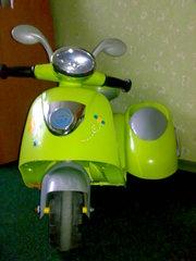 Детский мотоцикл с коляской для игрушек Geoby